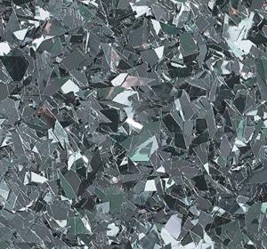 Flake flooring color sample - Gunmetal Glitter.