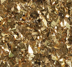 Flake flooring color sample - Gold Glitter.