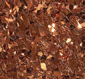 Flake flooring color sample - Copper Glitter.