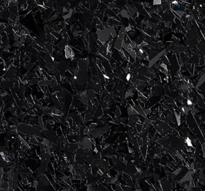 Flake flooring color sample - Black Glitter.