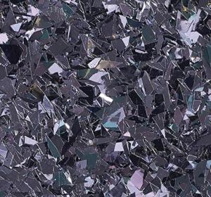 Flake flooring color sample - Midnight Glitter.