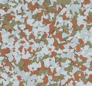 Flake flooring color sample - Gale