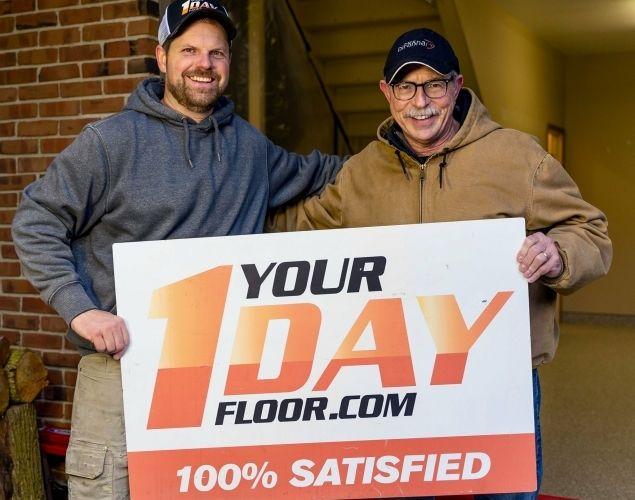 Satisfied flake flooring customer, Larry.