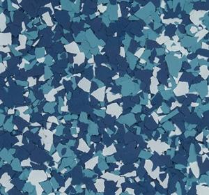Flake flooring color sample - Humphery.