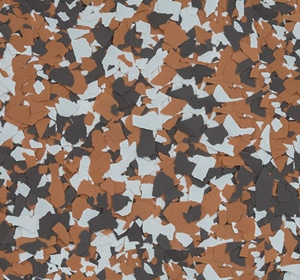 Flake flooring color sample - Maple Grove.