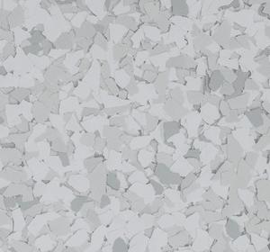 Flake flooring color sample - Opal.
