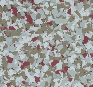 Flake flooring color sample - Pheasant.