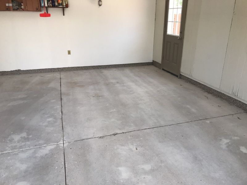 Concrete floor coating in Dayton