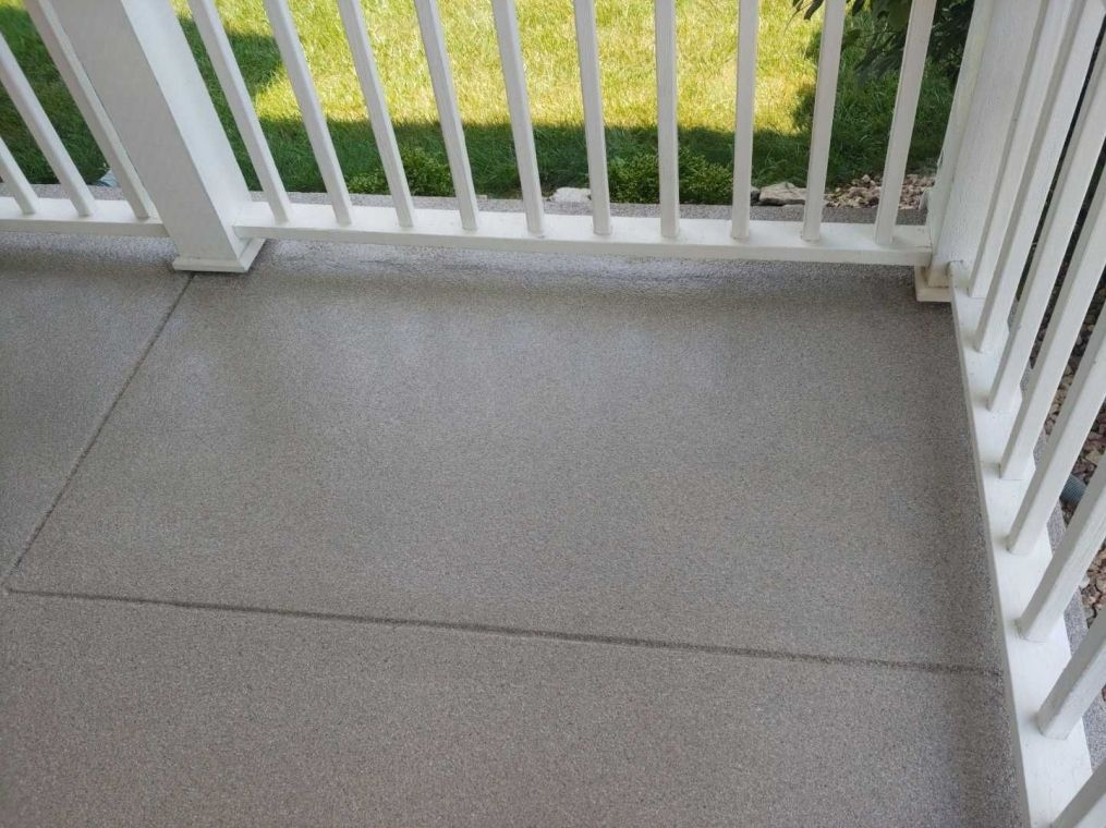 Granite flooring option for your home patio.