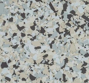 Flake flooring color sample - Sierra.