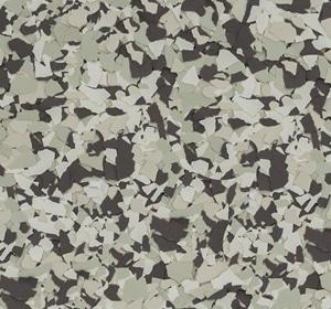 Flake flooring color sample - Smokehouse.