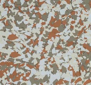 Flake flooring color sample - Sorrel.