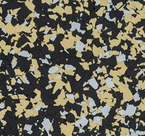 Flake flooring color sample - Superdome.