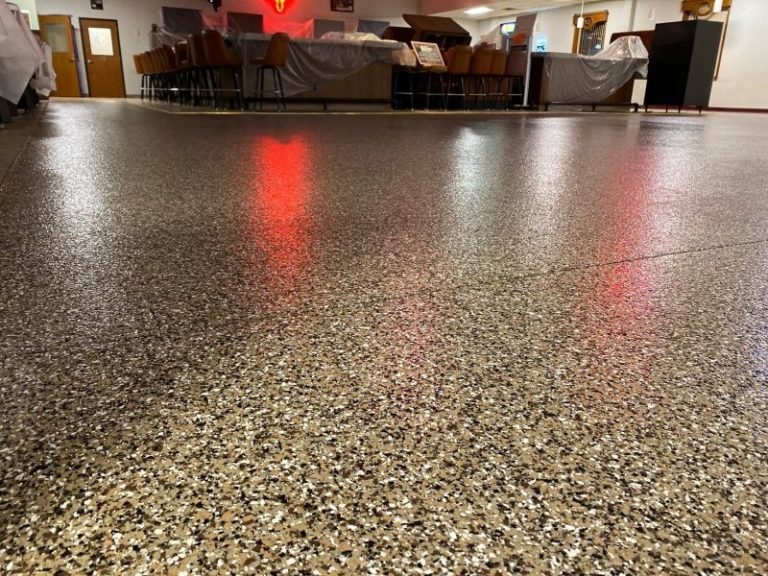 The final look at a commercial flooring install.