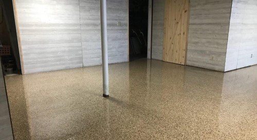 Interior concrete floor coating
