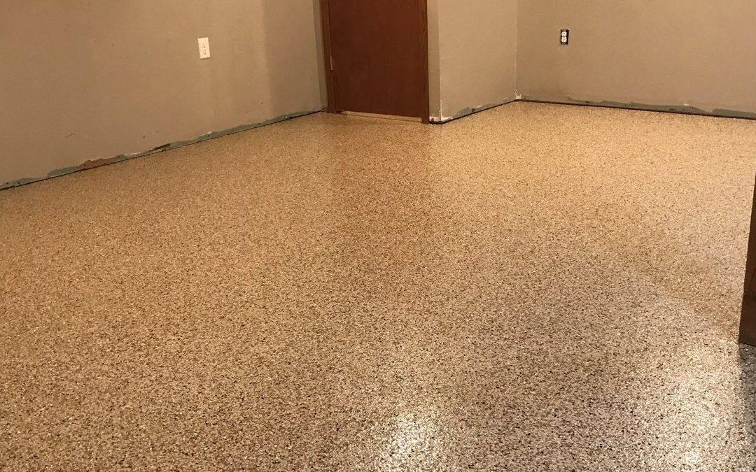 basement floor after