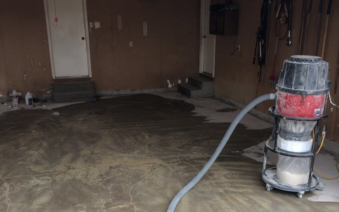 garage floor after
